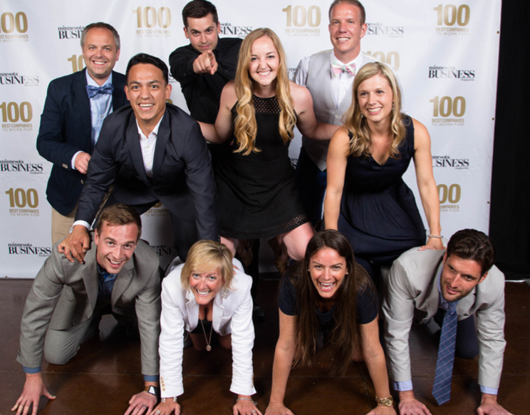SportsEngine, Inc. employees celebrate as we are recognized as one of the top companies to work for