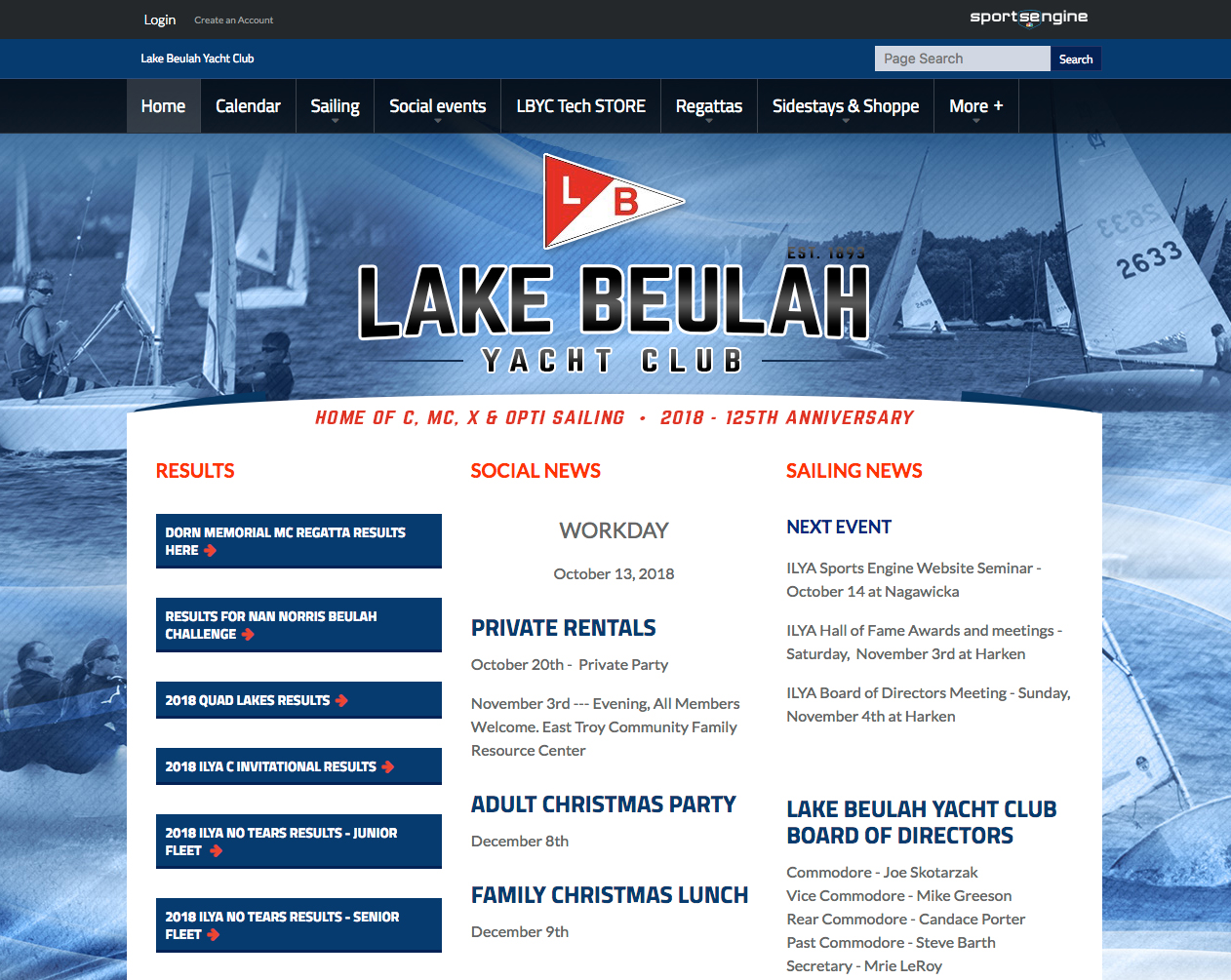 Lake Buelah Yacht Club Website
