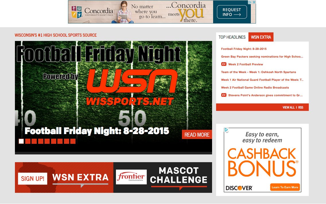 WSN Football Friday Night Screenshot