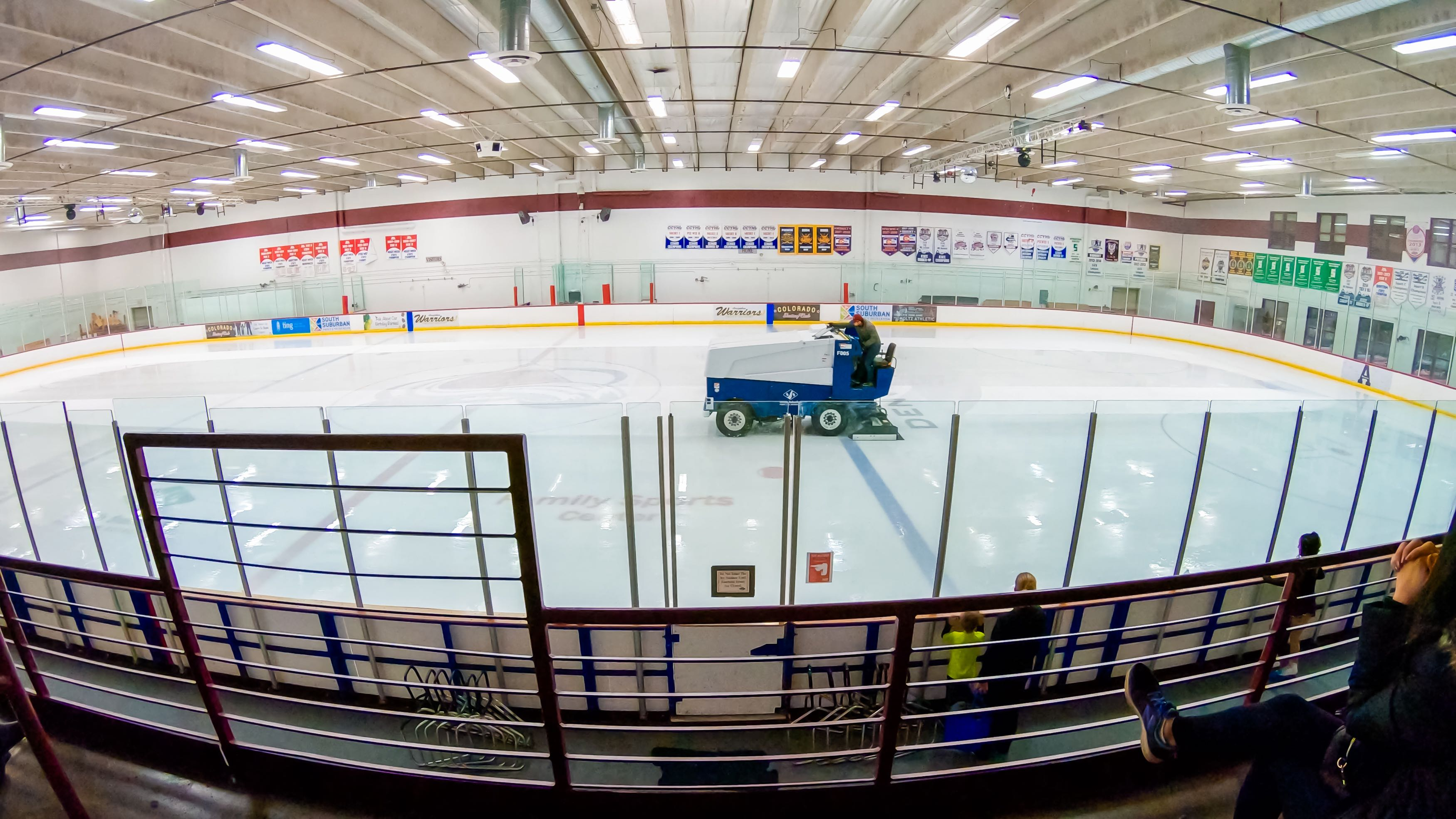 Zamboni on ice rink