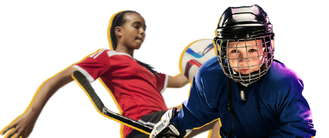 Youth soccer and hockey player