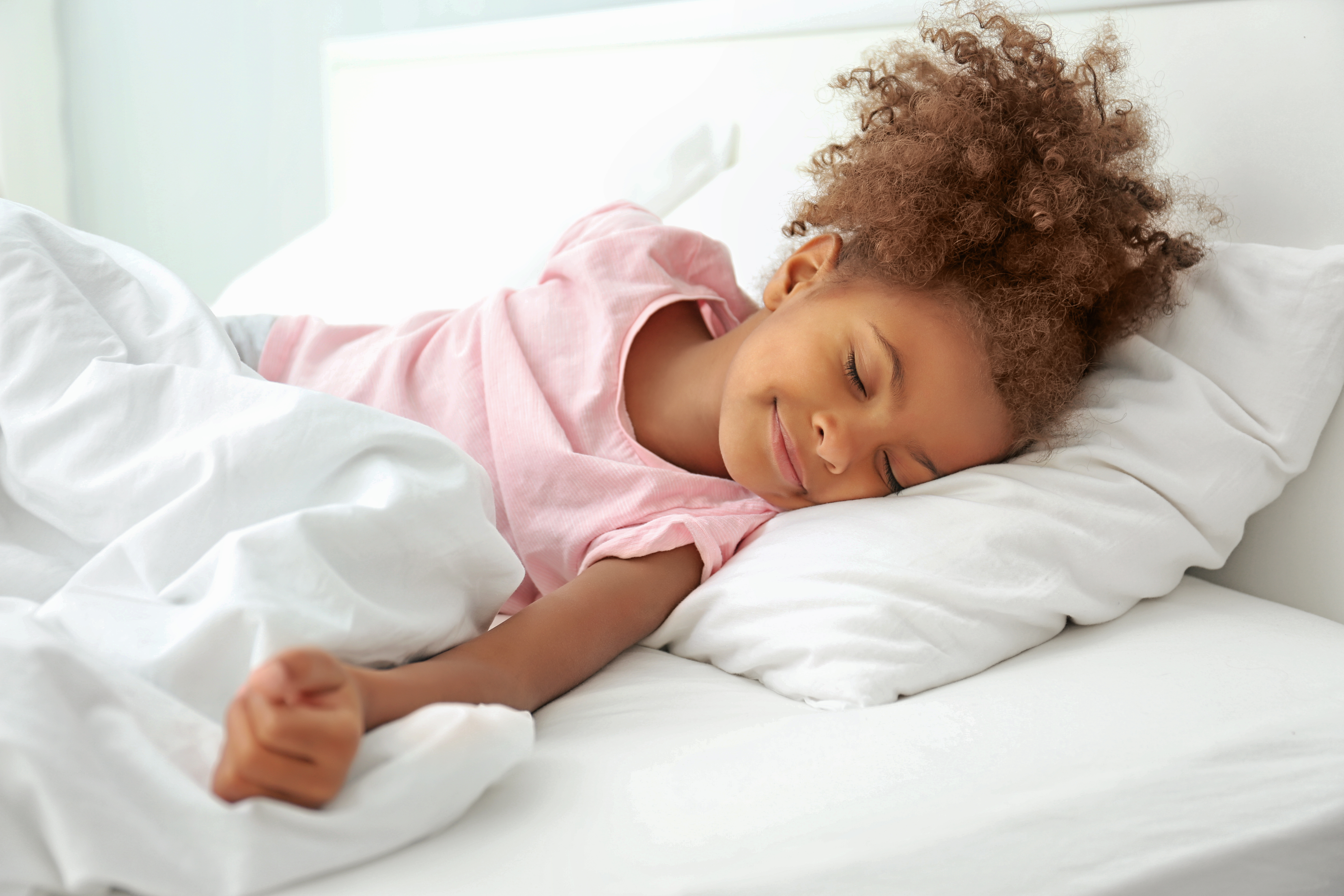 girl sleeping bed
