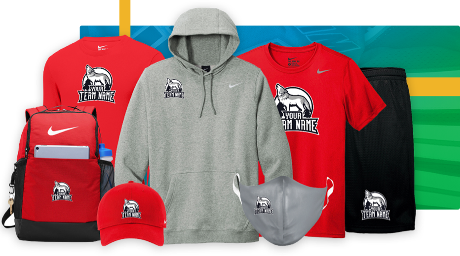 Collection of spirit wear