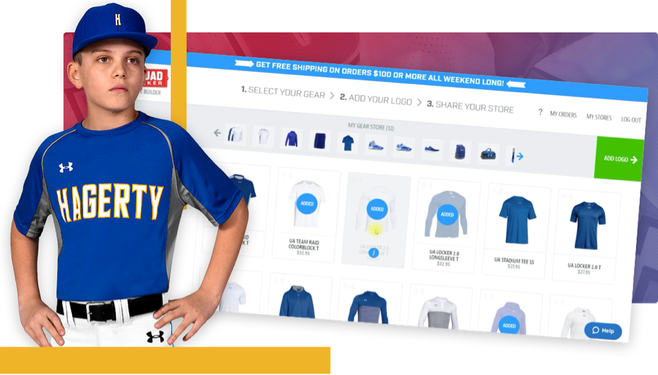 Baseball player and online store