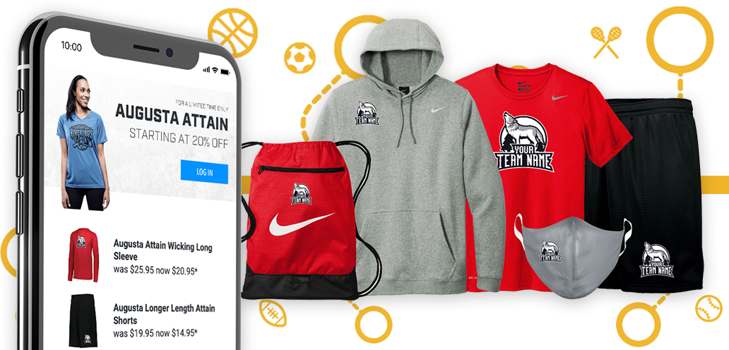 Collection of spirit wear with mobile phone
