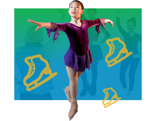 Girl in figure skating