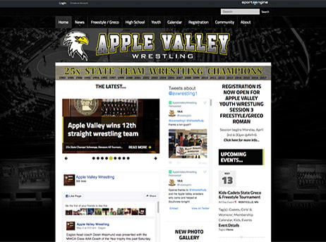 Apple Valley Eagles - Sitebuilder example