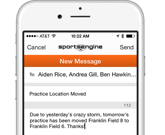 SportsEngine Mobile: Team Messaging