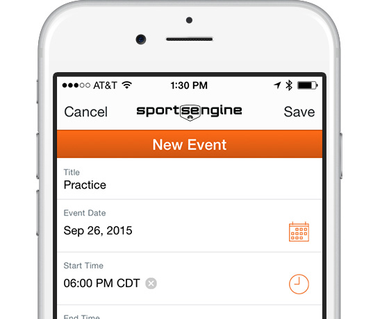 SportsEngine Mobile: Schedules