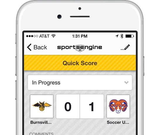 SportsEngine Mobile: Quick Score