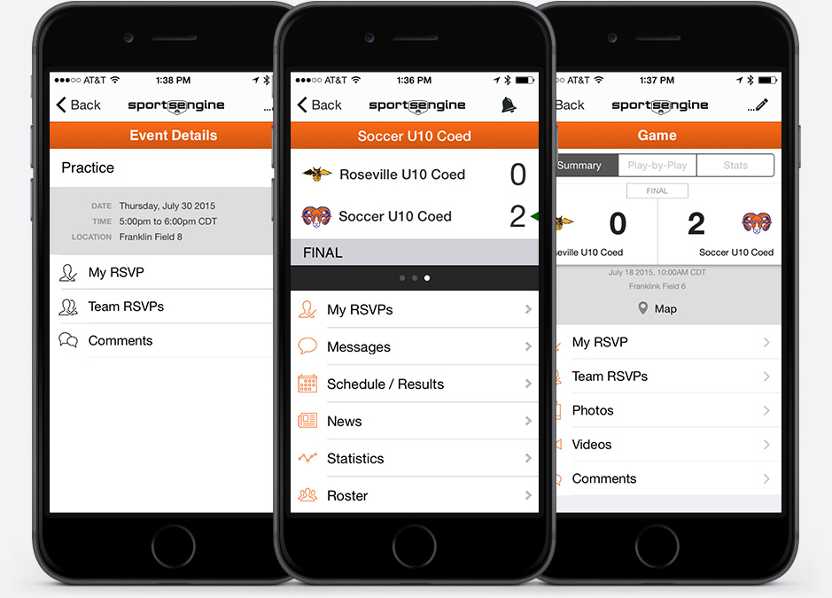 SportsEngine Mobile: For Athletes, Families and Fans