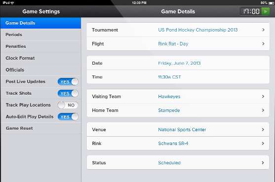Hockey Scoring System  Scorekeeper By Sportsengine
